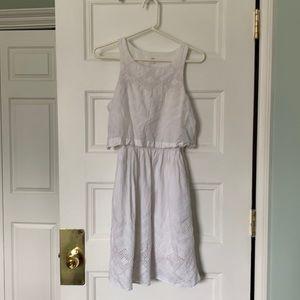 Gap White Eyelet Dress